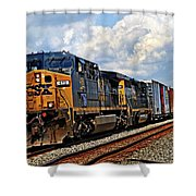 Going On A Train Ride Shower Curtain