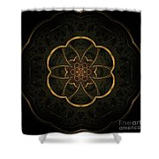 Gold Inlay Shower Curtain