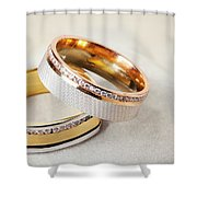 Gold Wedding Ring  Shower Curtain