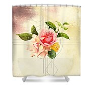 Golden Abstraction Shower Curtain by Bee-Bee Deigner