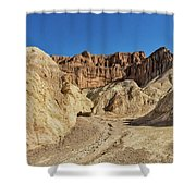 Golden Canyon's Red Cathedral Shower Curtain