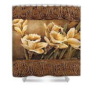Golden Daffodils II    Shower Curtain