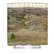 Golden Dakota Prairie Reverie Shower Curtain