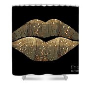 Golden Dreams Fantasy Lips Fashion Art Shower Curtain