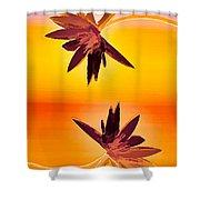 Golden Duo Water Lilies Shower Curtain