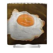 Golden Fried Egg Shower Curtain