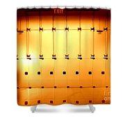 Golden Glass Doors Shower Curtain