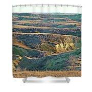 Golden Grasslands Enchantment Shower Curtain