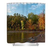 Golden Hour At Esopus Meadows II Shower Curtain