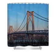 Golden Hour At Mid-hudson Bridge Shower Curtain