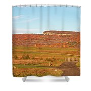Golden Hour At River-to-ridge II Shower Curtain