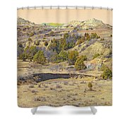 Golden Prairie Realm Reverie Shower Curtain