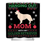 Golden Retriever Ugly Christmas Sweater Xmas Gift Shower Curtain