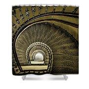 Golden Stairway Shower Curtain