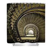 Golden Stairway Shower Curtain