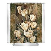 Golden Tulips    Shower Curtain