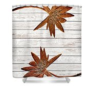 Golden Water Lily Duo Shower Curtain