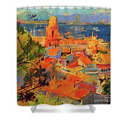 Golfe De Saint-tropez Shower Curtain