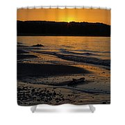 Good Harbor Bay Sunset Shower Curtain