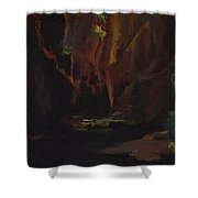 Gorge In The Mountains Of Carrara Shower Curtain