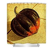 Gourd On Tile Shower Curtain
