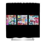 Graffitis Triptych Shower Curtain