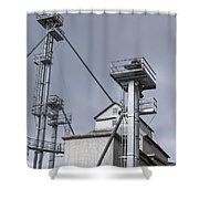 Grain And Feed Silos Bethel Vermont Shower Curtain