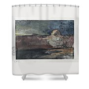 Grand Canyon In Stormy Weather, Arizona - Digital Remastered Edition Shower Curtain