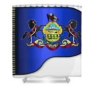 Grand Pennsylvania Flag Shower Curtain