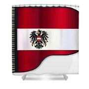 Grand Piano Austrian Flag Shower Curtain