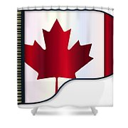 Grand Piano Canadian Flag Shower Curtain