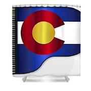 Grand Piano Colorado Flag Shower Curtain