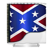 Grand Piano Confederate Flag Shower Curtain