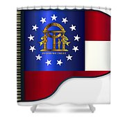 Grand Piano Georgia Flag Shower Curtain