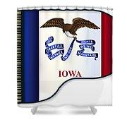 Grand Piano Iowa Flag Shower Curtain