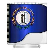 Grand Piano Kentucky Flag Shower Curtain