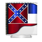 Grand Piano Mississippi Flag Shower Curtain