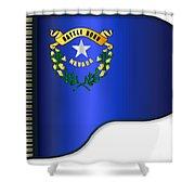Grand Piano Nevada Flag Shower Curtain