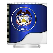 Grand Piano Utah Flag Shower Curtain