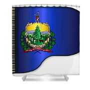 Grand Vermont Flag Shower Curtain