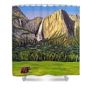 Grandeur And Extinction Shower Curtain by Kevin Daly