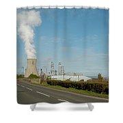 Grangemouth Petro-chemical Plant Shower Curtain