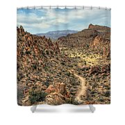 Grapevine Mountain Trail Shower Curtain