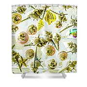 Graphically Aquatic Shower Curtain