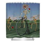 Grateful Dancing Cheer Skeletons Shower Curtain