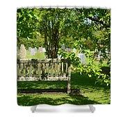 Graveyard Bench Shower Curtain