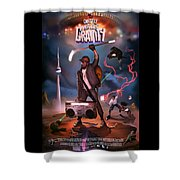 Gravity Poster Shower Curtain by Nelson Garcia