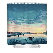 Grays Lake Shower Curtain by Clint Hansen