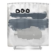Grayscale 1- Abstract Art By Linda Woods Shower Curtain
