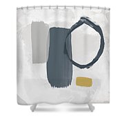 Grayscale 2- Abstract Art By Linda Woods Shower Curtain